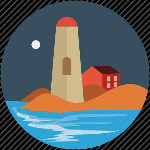 historic, landmark, lighthouse, monument, seaside icon