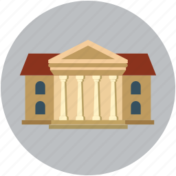 building, court, court of law, courthouse, law court icon