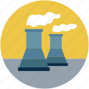 atomic power plant, atomic plant, nuclear power plant, nuclear plant chimneys, nuclear plant, atomic plant chimneys