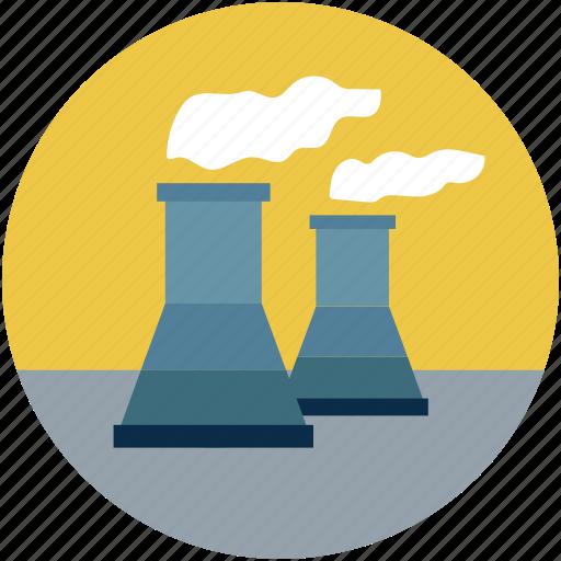 atomic plant, atomic plant chimneys, atomic power plant, nuclear plant, nuclear plant chimneys, nuclear power plant icon