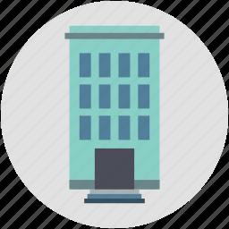apartments, block of flats, building, city building, flats, modern, modern flats icon