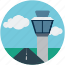 airport control tower, building, tower, airport tower, control tower