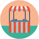 fast food stand, food delivery stand, food stand, street cafe, street food stand icon