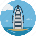 burj al arab, dubai, luxury hotel, seven star hotel, tower, tower of the arab icon