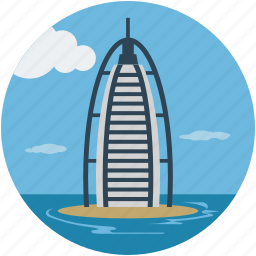 burj al arab, dubai, luxury hotel, seven star hotel, tower, tower of the arab icon