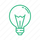 bulb, lamp, led, light, light bulb, lightbulb, lightning icon