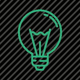 bulb, lamp, led, light, light bulb, lightbulb, lightning icon