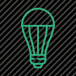 bulb, energy, lamp, light, light bulb, lightning, power icon