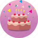 birthday, cake, celebrate, congrats, gift, happy, party icon