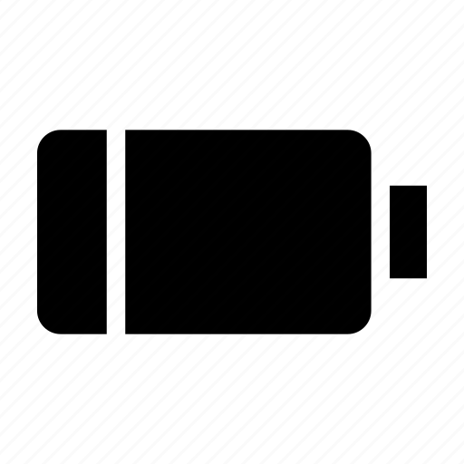 battery, empty, indicator, near, panel icon