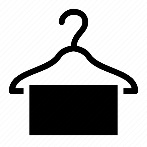 hanger, mop, room, service, towel icon