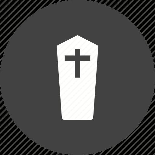 casket, cemetery, coffin, death, funeral, graveyard, wooden icon