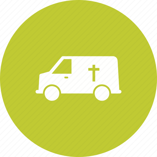 coffin, death, funeral, people, service, van icon