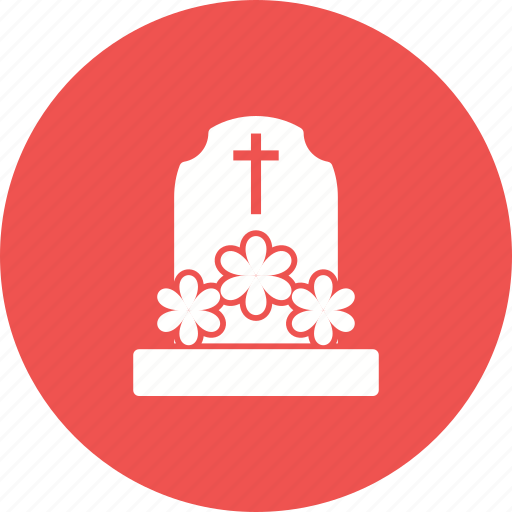 casket, coffin, death, flowers, funeral, graveyard, wreath icon