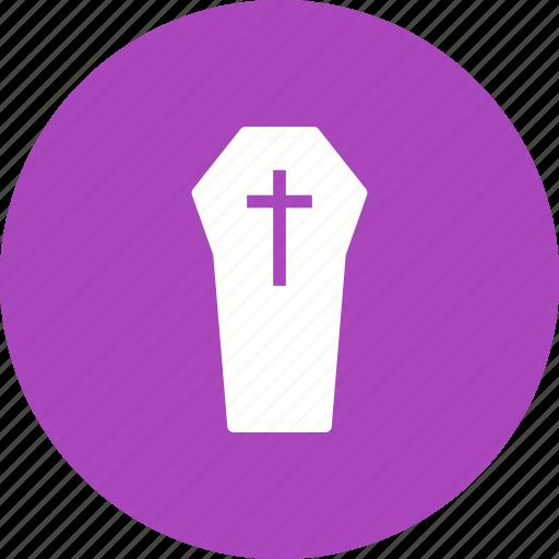 Casket, cemetery, coffin, death, funeral, graveyard, wooden icon - Download on Iconfinder