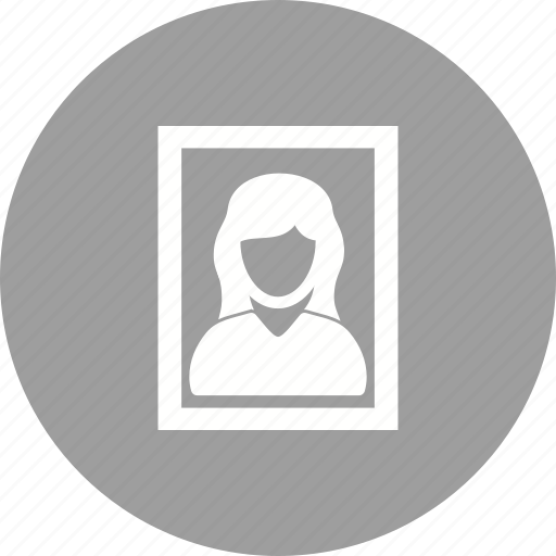 female, frame, human, image, photo, picture, portrait icon