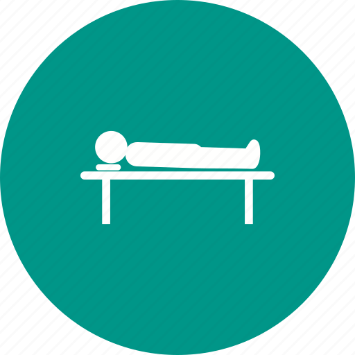 accident, body, dead, death, person, sheet, table icon