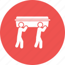 casket, cemetery, flag, funeral, guard, honor, people icon