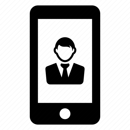 contact, mobile, phone, user, work icon