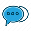 bubble, chat, chatting, communication, message, speech, talk icon