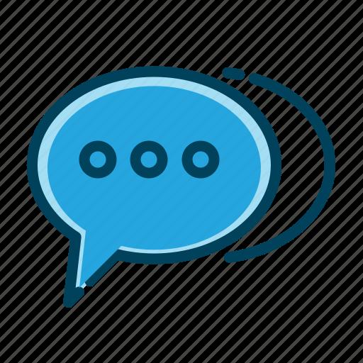 bubble, chat, chatting, communication, message, speech, talk icon
