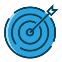 aim, archery, business strategy, focus, goal, target, target arrow icon