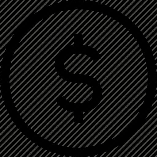 business, dollar, finance, financial, money, usd icon