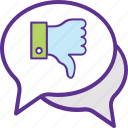 bad feedback, customer review, negative feedback, negative opinion, website rating icon