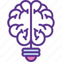brain questions, brainstorming, innovation, mental genius, solution icon