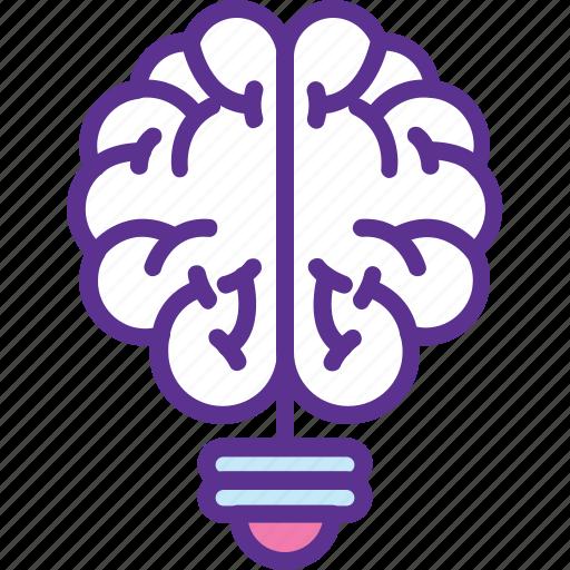 brain questions, brainstorming, innovation, mental genius, solution icon