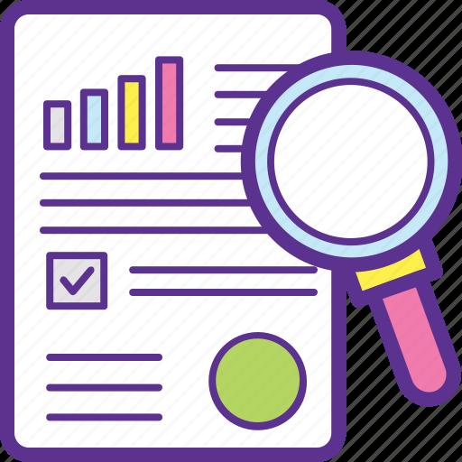 audit, business analysis, business solutions, market analysis, market intelligence icon