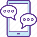 chat screen, communication, mobile chat, mobile message, online conversation