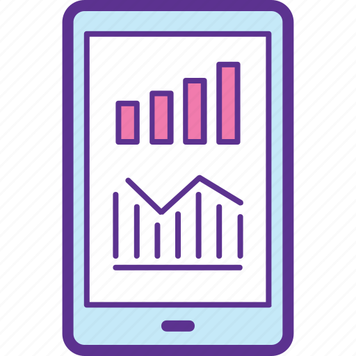 Analytics app, mobile chart app, mobile dashboard, mobile finance, mobile sale icon - Download on Iconfinder