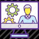 compensation management, hr management, human resources, human resources information system, organization icon