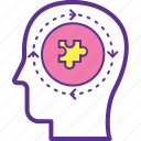 bright planning, creative production, creativity, human brain function, thinking process icon