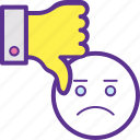 bad feedback, customer review, dislike, negative feedback, negative opinion icon