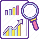 analysis, business solutions, market analysis, market intelligence, market research icon