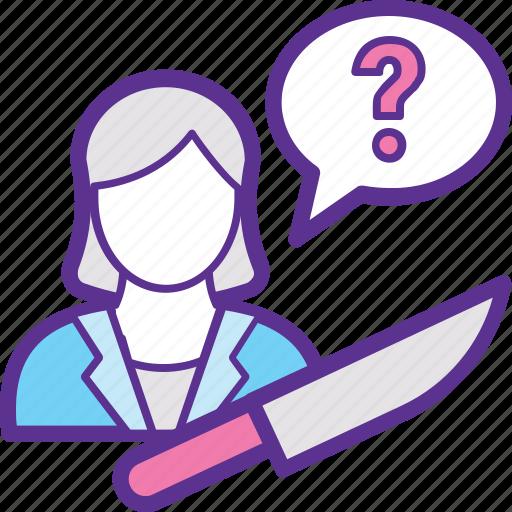 Fight, killer, retaliation, revenge, women's revenge icon - Download on Iconfinder