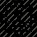 cog, gear, network, online, user, work icon
