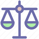 balance, business, justice, law, modern, scales icon