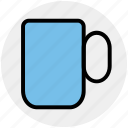 coffee, coffee cup, cup, drink, mug, tea cup, tea mug icon
