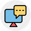 chat, conversation, discussion, lcd, led, monitor icon