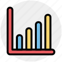 analytics, bar, earnings, financial, progress, report icon