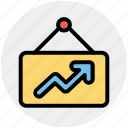 analytics, board, chart, graph, presentation icon