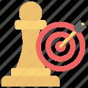 aim target, business target, goal, strategic planning, strategic target, tactics icon