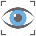 biometric scanning, eye scanning, eye tracking, personal identification, recognition
