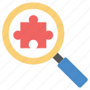 finding solutions, problem solving, search engine, seo, strategic search icon