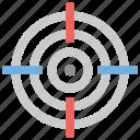 crosshair, focal, focus, precision, target icon