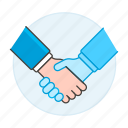 agreement, ai, bot, business, contracts, deals, hand, handshake, reality, virtual, vr icon