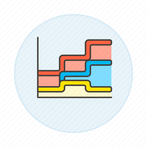 analytics, area, business, chart, graph icon